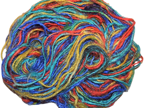 100g Himalayan Sari Silk Yarn Multi Bright