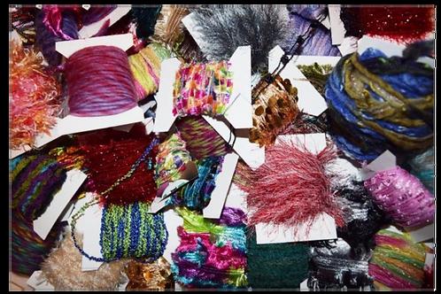 150 yards 15 colors Fiber for Embellishments Novelty yarn Grab Bag 3