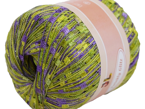 TWINKLY GLITZ Trail Ladder Trellis Yarn 150 yards, Color 908