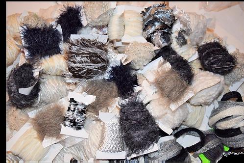 100 yards 10 colors Fiber for Embellishments Novelty yarn Grab Bag 4