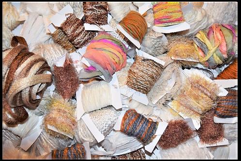 100 yards 10 colors Fiber for Embellishments Novelty yarn Grab Bag 5