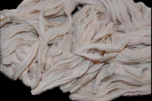 10 yards Sari SILK Ribbon Yarn Cream Chiffon