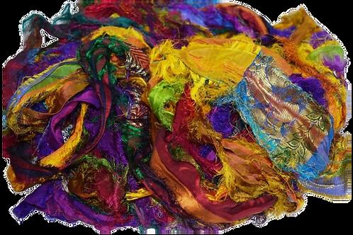 Sari SILK 100g Ribbon Yarn Fuzzy Dupioni