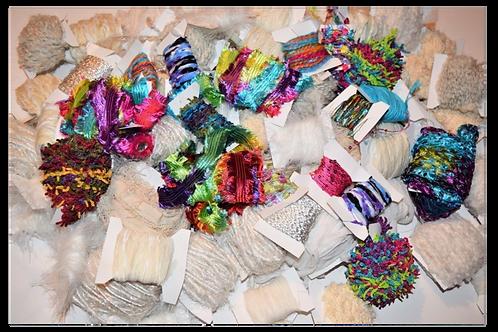100 yards 10 colors Fiber for Embellishments Novelty yarn Grab Bag 7