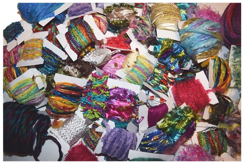 200 yards 20 colors Fiber for Embellishments Novelty yarn Grab Bag 2