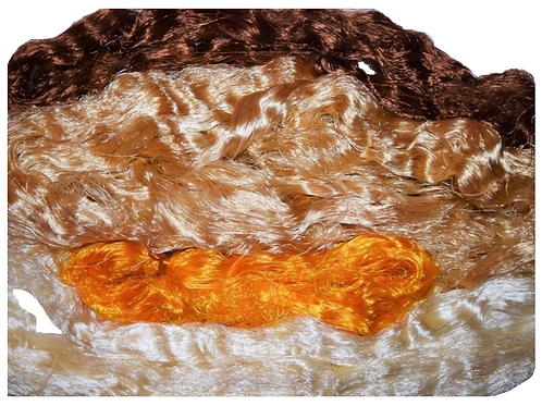 4oz Multi Banana Silk Fiber Waste Threads Multi Mixed 4