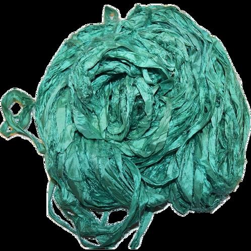 100g Sari SILK Ribbon Yarn Jade