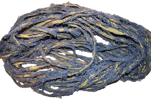 10 yards Gold LUREX Natural Frayed Recycled Friz Cotton Ribbon Yarn Silver
