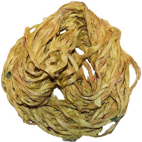 10 yards Sari SILK Ribbon Yarn Merigold