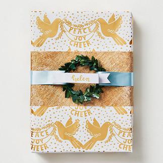 PeaceJoyCheerDoves gift wrap