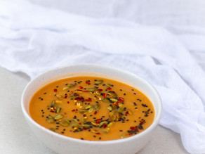 Ginger Spiced Sweet Potato & Red Lentil Soup