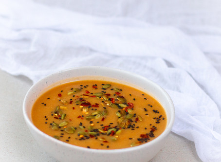 Ginger Spiced Sweet Potato & Red Lentil Soup