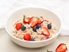 Apple & Strawberry Bircher