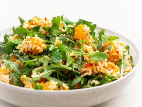 Ginger Roasted Pumpkin & Brown Rice Salad