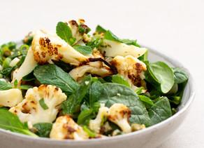 Roasted Cauliflower Salad w Capers & Mint