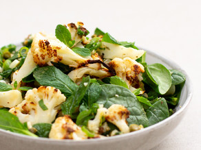 Roasted Cauliflower Salad w Capers & Mint