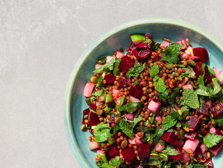 Beetroot & Lentil Salad with Apple & Mint