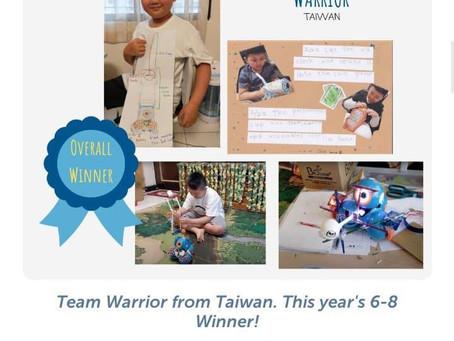 恭喜台灣隊伍Warrior勇奪第五屆Dash&Dot全球挑戰賽冠軍