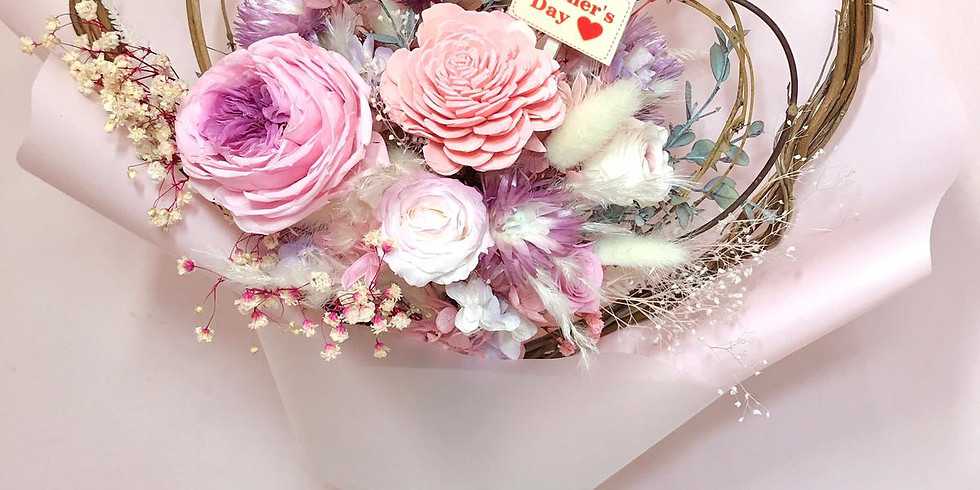 Mother's Day 保鮮花心心花束工作坊 - PF245
