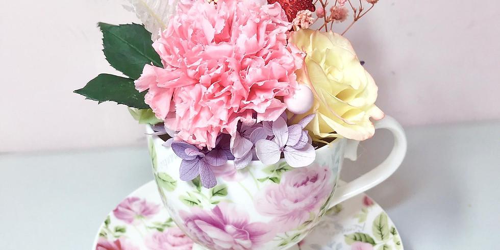 母親節保鮮花茶杯花工作坊 - PF246