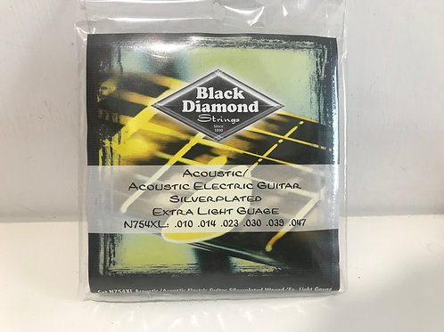 美國 Super Sensitive Black Diamond Acoustic Guitar Strings Set