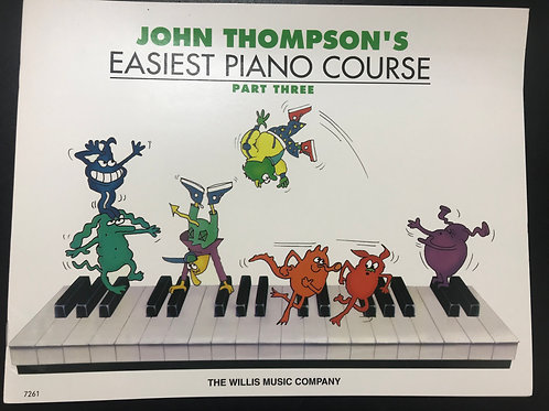 John Thompson's Easiest Piano Course 鋼琴書 Part 3