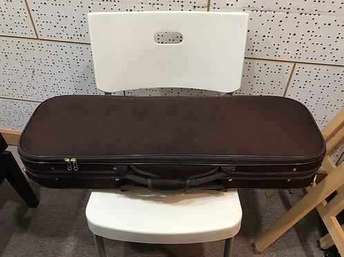 內地製高檔次翻毛絨方形款小提琴盒 (啡)