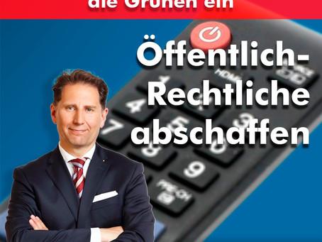 ARD und ZDF laden bevorzugt die Grünen ein - daher: GEZ-Abschaffung