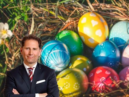 Ich wünsche Ihnen ein wundervolles Osterfest im Kreise Ihrer Liebsten