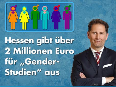 """+++ Pressemitteilung +++ Hessen gibt über 2 Millionen Euro für """"Gender-Studien"""" aus"""