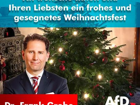Ihnen und Ihrer Familie ein frohes und gesegnetes Weihnachtsfest