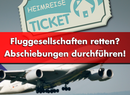 Fluglinien retten – Abschiebungen durchführen!