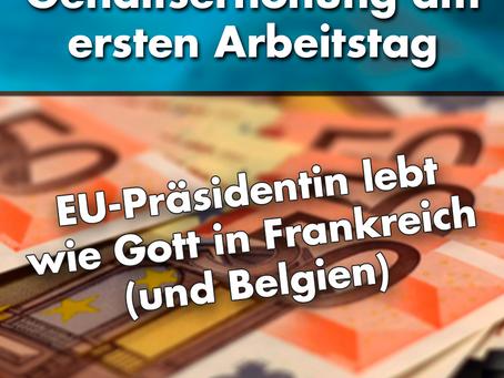 Weihnachtsgeschenk für EU-Kommissionspräsidentin von der Leyen: kräftige Gehaltserhöhung