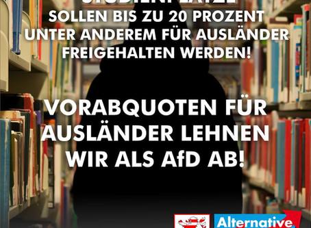"""Künftige Hochschulzulassung in Hessen: """"Vorabquoten für Ausländer lehnen wir als AfD ab!"""""""
