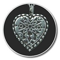 Sterling Silver Heart w/ Silver Antique Insert