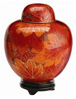 Fall Leaf Keepsake Urn