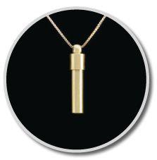 14K Gold Cylinder Pendant