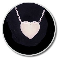 Sterling Silver Sliding Heart Companion Pendant