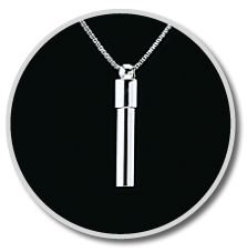 Sterling Silver Cylinder Companion Pendant