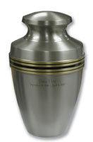 Grecian Pewter Keepsake Urn