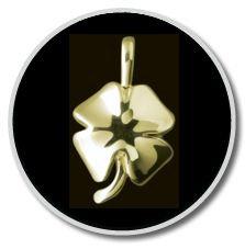 14K Gold 4-Leaf Clover Pendant