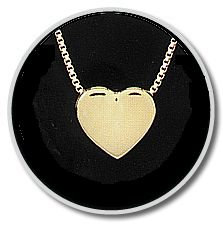 14K Gold Sliding Heart Companion Pendant
