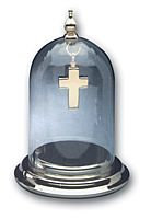 Pewter Dome Keepsake Display