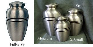 Pewter with Strip Urn