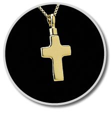 Small Gold Vermeil Cross Keepsake Pendant