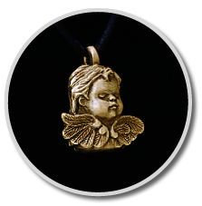 Brass Cherub Pendant