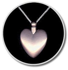 Large Heart White Bronze Pendant