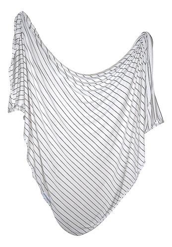 Newborn Swaddle Set - White with Black Stripes