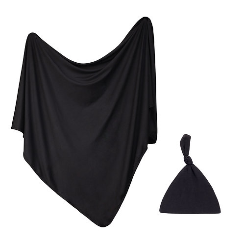 Newborn Swaddle Set -Black
