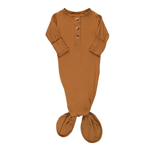 Newborn Knotted Gown - Copper